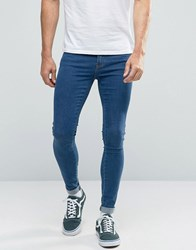 Dr. Denim Dr Dixy Extreme Super Skinny Jeans Mid Stone Blue