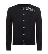 Marc Jacobs Sequin Embellished Classic Cardigan Female Black