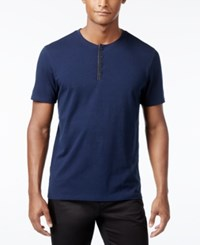 Inc International Concepts Men's Dressy Henley Only At Macy's Navy