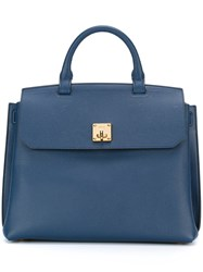 Mcm Boxy Backpack Blue