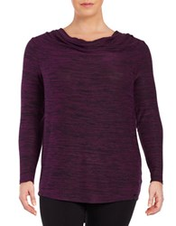 Marc New York Cowlneck Sweater Tunic Ripe Fig
