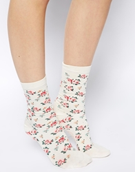 Cath Kidston Giraffe And Rose 2 Pack Socks Multi