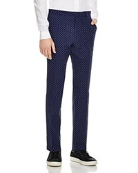 Paul Smith London Dot Seersucker Slim Fit Trousers Blue Seersucker