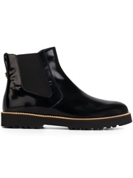 Hogan Rubber Sole Chelsea Boots Black
