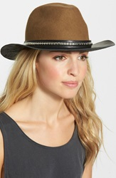 The Kooples Wool And Leather Western Hat Beige