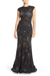 Women's Betsy And Adam Embellished Lace Mermaid Gown