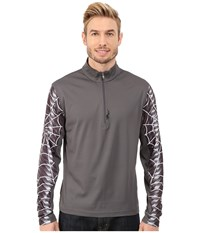 Spyder Webstrong Dry W.E.B. T Neck Top Polar Cirrus Men's Long Sleeve Pullover Gray