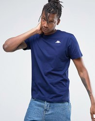 Kappa T Shirt With Small Logo Blue