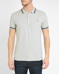 Diesel Mottled Grey T Oin Trim Short Sleeve Slim Fit Polo Shirt
