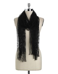 Collection 18 Lurex Net Scarf Black