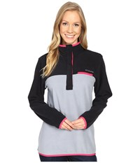 Columbia Mountain Side Pullover Black Tradewinds Grey Women's Long Sleeve Pullover