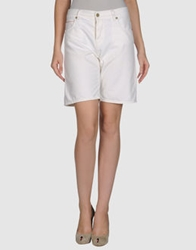 Mih Jeans Denim Bermudas White