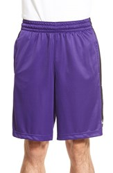 Nike Men's 'Elite Stripe' Basketball Shorts Court Purple Black White