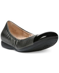 Naturalizer Campo Round Toe Flats Women's Shoes Steel Smooth