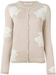 Agnona Crew Neck Cardigan Nude And Neutrals