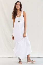 Urban Renewal Remade Rib Top Maxi Dress White