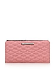Rebecca Minkoff Sophie Quilted Leather Snap Wallet Guava