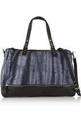 Maje Fernando Tye Dyed Canvas And Leather Shoulder Bag