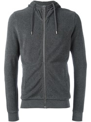 Orlebar Brown Zipped Hoodie Grey