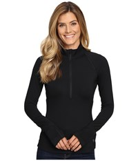 Mountain Hardwear Butterlicious Long Sleeve 1 2 Zip Top Black Women's Long Sleeve Pullover