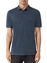 Allsaints Alter Slim Fit Polo Shirt Workers Blue