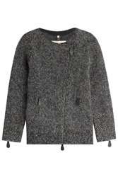 Burberry Brit Wool Mohair Alpaca Cardigan Grey