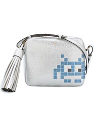 Anya Hindmarch Space Invader Shoulder Bag Metallic