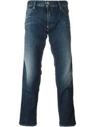 Emporio Armani Five Pocket Slim Fit Jeans Blue