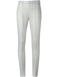 Missoni Zig Zag Pattern Knit Trousers Metallic