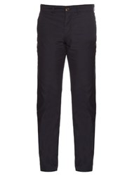 Oliver Spencer Worker Cotton Trousers Navy