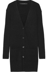Wes Gordon Ribbed Knit Cardigan Black