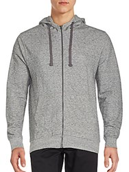 Artistry In Motion Hooded Drawstring Jacket Grey