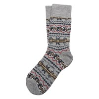 Barbour Castleside Fair Isle Socks Grey