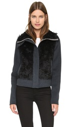 Tess Giberson Wool Jacket With Mohair Grey Light Grey