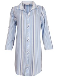 Cyberjammies Porcelain Doll Stripe Nightshirt Blue Multi