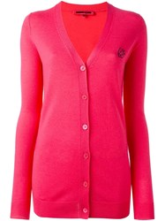 Mcq By Alexander Mcqueen 'Swallow' Cardigan Pink And Purple