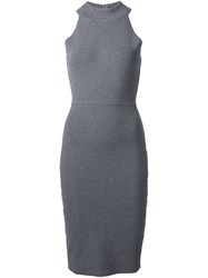 Milly Fitted Dress Grey