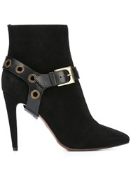 L'autre Chose Buckle Detail Boots Black