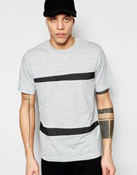 Izzue T Shirt With Mesh Insert Heather Grey