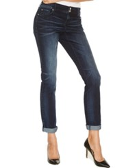 Inc International Concepts Curvy Fit Boyfriend Jeans Fire Wash Only At Macy's