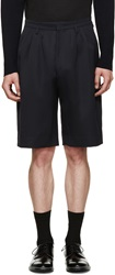 Paul Smith Blue Twill Tailored Shorts