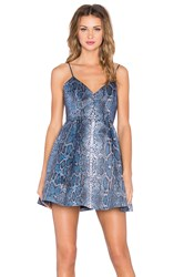 Lovers Friends Young Love Fit And Flare Dress Blue