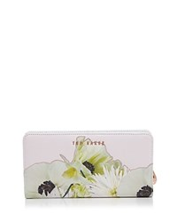 Ted Baker Pearly Petal Crosshatch Matinee Wallet Ash