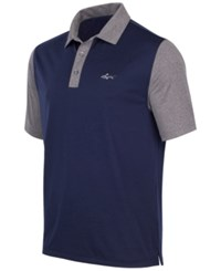 Greg Norman For Tasso Elba Men's Colorblocked Golf Polo Night Sky