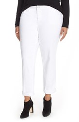 Plus Size Women's Eileen Fisher Stretch Denim Boyfriend Jeans White