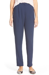 Lily White High Rise Trousers Juniors 6740N Navy