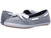 Keds Teacup Boat Micro Dot Blue Chambray Women's Flat Shoes