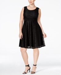 American Rag Trendy Plus Size Lace Fit And Flare Dress Only At Macy's Classic Black