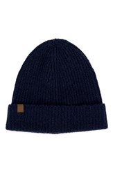 Herschel Men's Supply Co. Cardiff Cashmere And Wool Beanie Blue Cashmere Navy