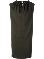 Gianluca Capannolo Ruched Collar Dress Green